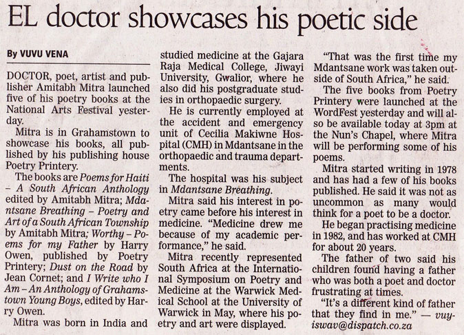 EL Doctor showcases his poetic side