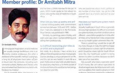 Interview that appeared in the South African Medical Journal, August 2013